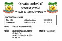 CORVETTE NOVEMBER CARAVAN - 11 12 17